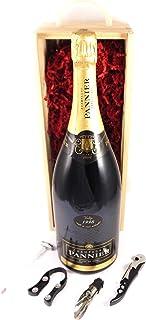 Pannier Blanc de Noirs Vintage Champagne 1998 MAGNUM in a wooden box with four wine accessories, 1 x 1500ml