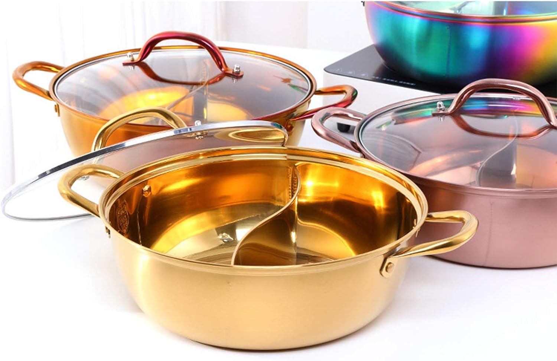 Pot à soupe en acier inoxydable 304, double division, ustensiles de cuisine, Pot de soupe, ustensiles de cuisine, Pot de soupe monocouche compatibles, outils pour la maison,Y W