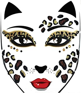 Morris Costumes - Face Decal Leopard