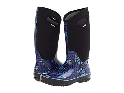 Bogs Classic Tall (Blue Multi Winterberry) Women