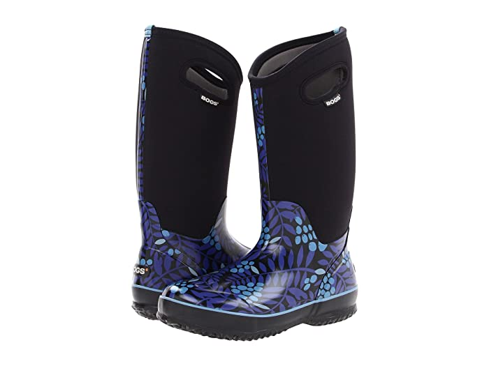 Bogs  Classic Tall (Blue Multi Winterberry) Womens Waterproof Boots