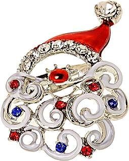 XIAOGING Monili del Regalo di Modo di Fascino delle Donne Annata Albero di Natale Strass Spilla Pin (Colore : Silver)