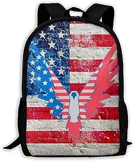 Logan Paul Maverick USA Casual School Bag Backpack Multipurpose Travel Daypack For Women & Men