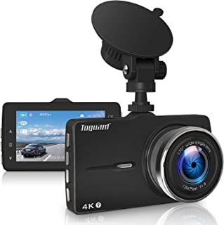 Máy thâu hình đặt trên xe ô tô – TOGUARD Dash Cam 4K Ultra HD Dash Camera with GPS, Car Driving Recorder with 3 Inch LED Screen, 170°Wide Angle Dashboard Camera, G-Sensor, WDR, Loop Recording,Parking Monitor, Motion Detection