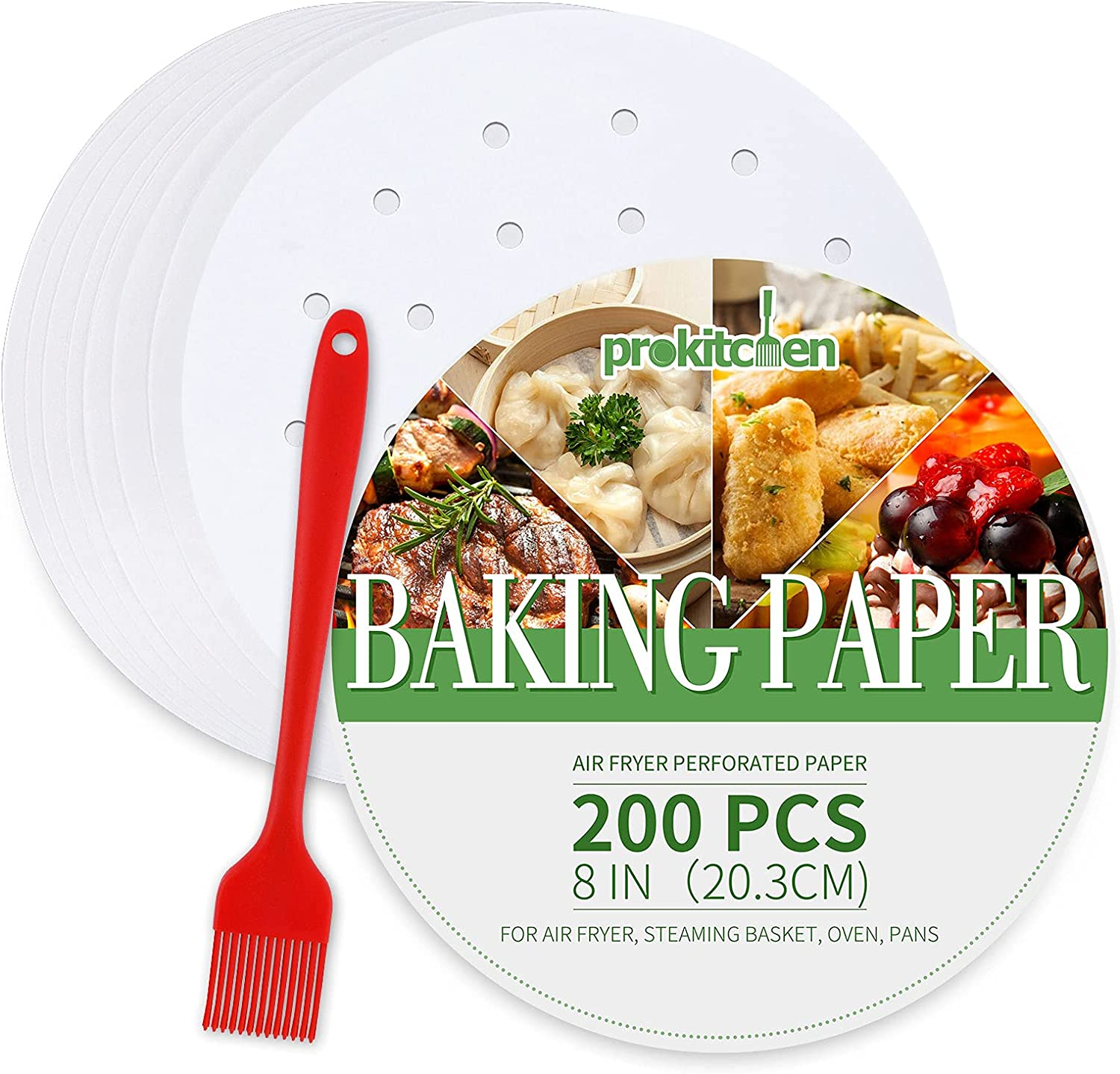 PROKITCHEN Air Fryer Perforated Paper Lowest price challenge - 200 Round PCS Store