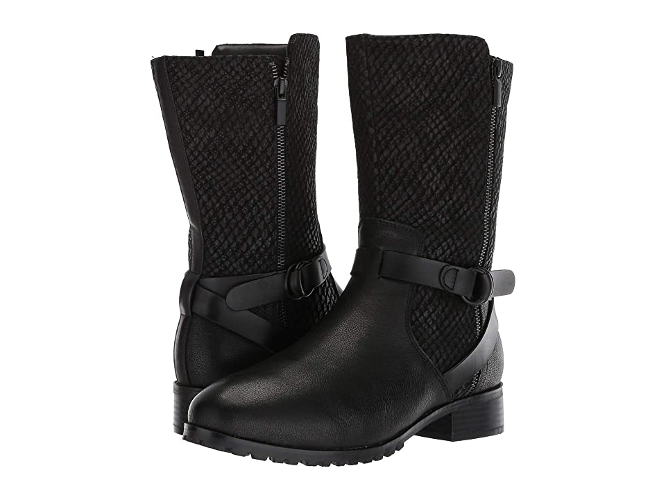 SoftWalk Marlowe (Black Reptile) Women
