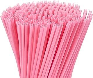 pink drinking straws