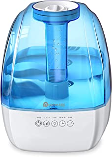 Cool Mist Humidifier - 4.5L Ultrasonic Humidifiers for Bedroom, Quiet Humidifier Large Room with 3 Mist Levels, Sleep Mod...