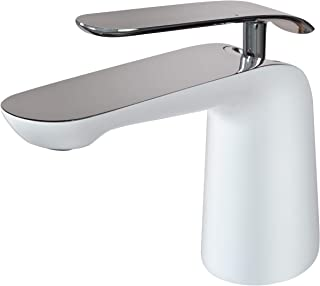 Spring Bath Faucets ZS16375, Single Handle (Chrome+White) by Koozzo