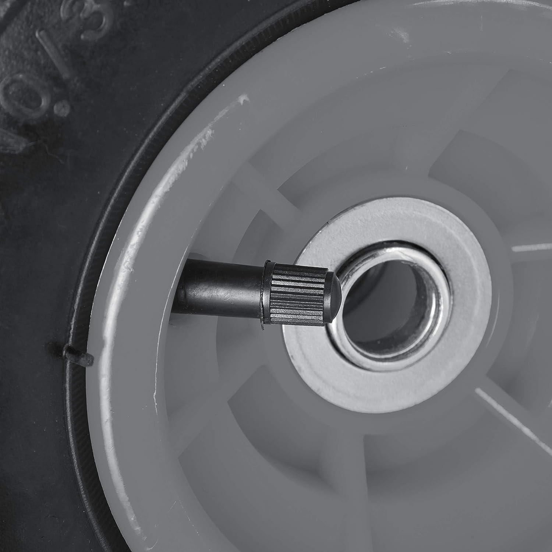 136 kg schwarz-gelb f/ür 16 mm Achse 260x85mm luftbereifte Ersatzr/äder f/ür Bollerwagen 2 x Sackkarrenrad 4.1//3.5-4