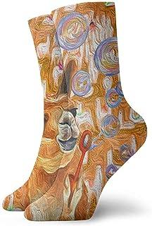 iuitt7rtree, Calcetines de tobillo de alpaca Casual divertido para botas de deporte Senderismo Running Etc.