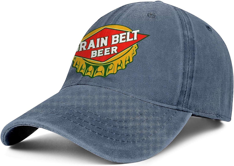 Unisex Cowboy Cap Grain-Belt- Jacksonville Mall Vintage Soft Ha Trucker Limited Special Price Adjustable