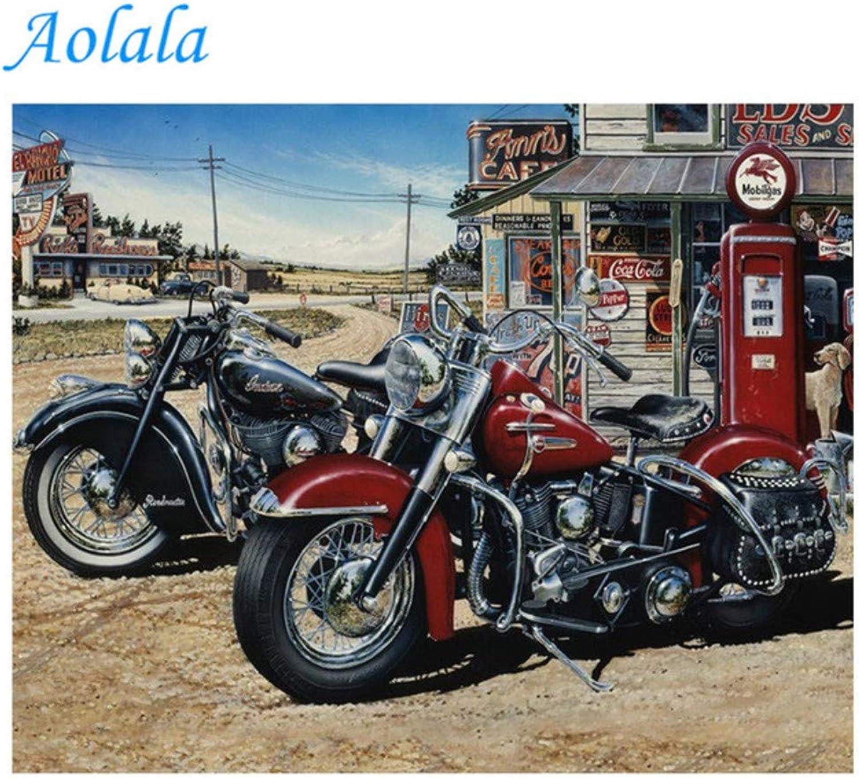 Diamond Painting Motorcycle Resin Rhinestone Diamond Embroidery Mosaic Painting Full Drill Home Decor,45x60cm