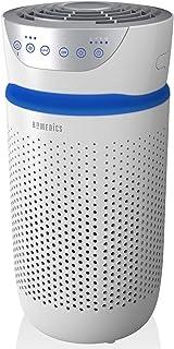 HoMedics Purificador de aire Filtro HEPA con carbón activo. Purificador aire hogar, Elimina hasta el 99.9% de los alérgenos, polen, polvo, humo, caspa para mascotas, moldes, malos olores, tabaco