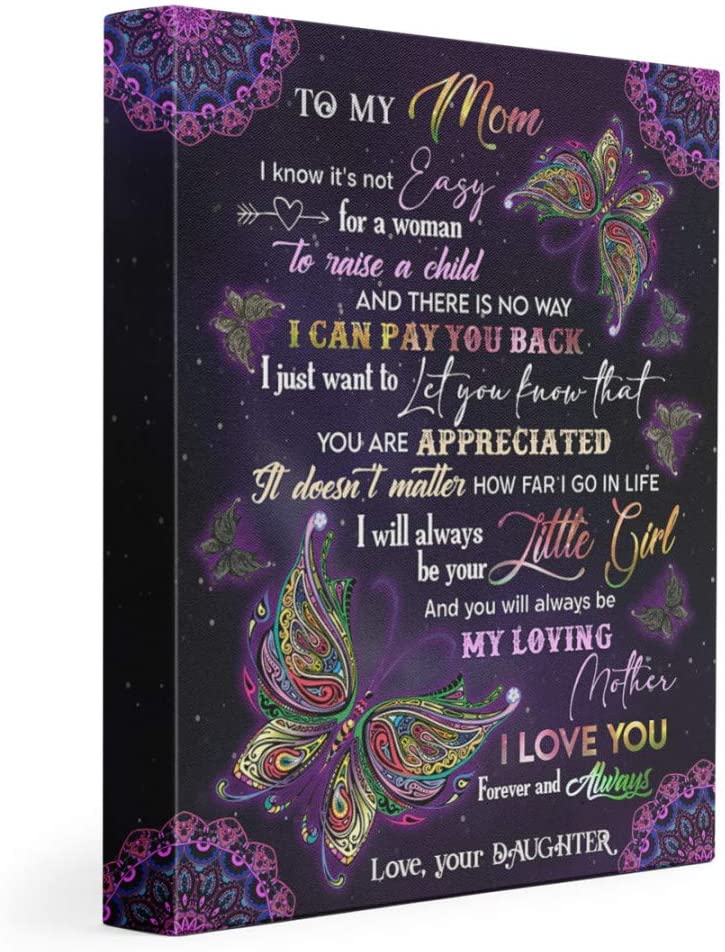 Star Tulsa Mall Prints Personalized to My Mom M latest Canvas Butterflies Gift for