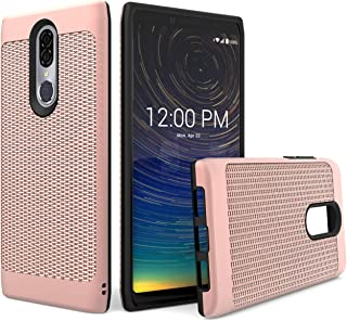 UNC Pro 2 in 1 Cell Phone Case for Coolpad Legacy 3705A, Weave Style Hybrid Case, Shockproof Bumper Anti-Scratch Dual Layer Cover, Rose Gold