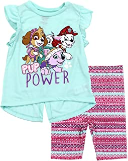 Paw Patrol Girls Short Sleeve Cotton Dress Tunic Party Summer Skye Character