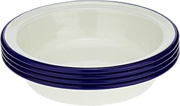 Wiltshire Enamel Pie Dishes, 12cm, Blue Rim (Pack of 4)