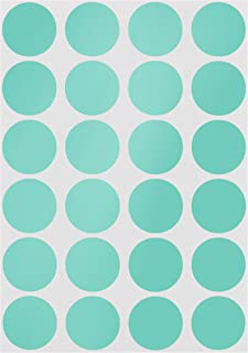 ChromaLabel 3/4 inch Color-Code Dot Labels on Sheets | 1,008/Pack (Aqua)