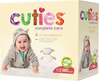 Cuties Complete Care Baby Diapers - Size 3 (180 Count)