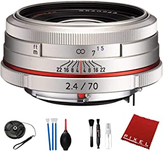 Pentax HD Pentax DA 70mm f/2.4 Limited Lens (Silver) with Essential Accessories