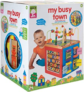 ALEX Toys Discover My Busy Town Wooden Activity Cube