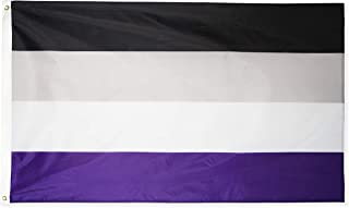 DANF Rainbow Flag 3x5 FT Gay Pride Lesbian Peace LGBT Printed Banner with Grommets (Asexual)