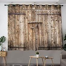 Gordijnen voor Keuken Decor Set Vintage Landelijke Boerderij Huis Deur Door Raamgordijn Grommet Panelen voor Slaapkamer Wo...