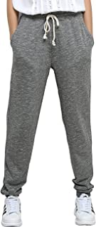Women's Sweatpants with Pockets - Yoga Leisure Gray & Black Cotton Joggers Loose Active Pants for Sports