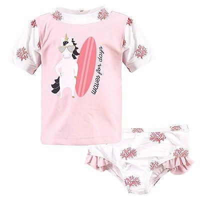 Hudson Baby Hudson Baby Unisex Baby Swim Rashguard Set, Surf Unicorn, 4 Toddler