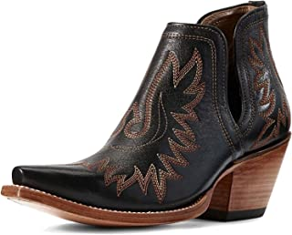 ARIAT womens Dixon Western Boot, Brooklyn Black, 9.5 Wide US