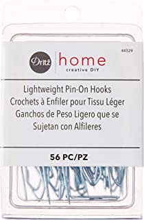 Dritz Home 44329 Lightweight Pin-On Drapery Hooks (56-Piece)