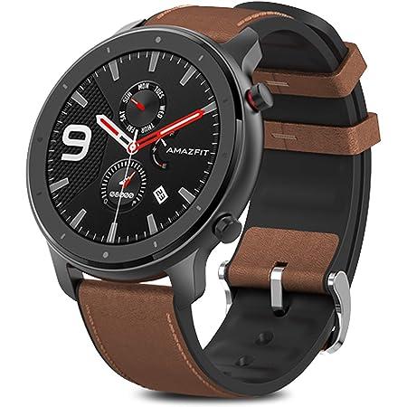 Amazfit GTR 47mmスマートウォッチHuami 5ATM防水スマートウォッチGPS音楽コントロール for Android IOS グローバル アマズフィット gtr smart watch gps 天気予報 12種類運動モードスマートウォッチ