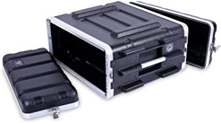 "Crossrock Stackable 4U Rack Case, Strong Molded with Heavy Duty Hardware, Standard 19.25"" Depth (CRA8604U)"
