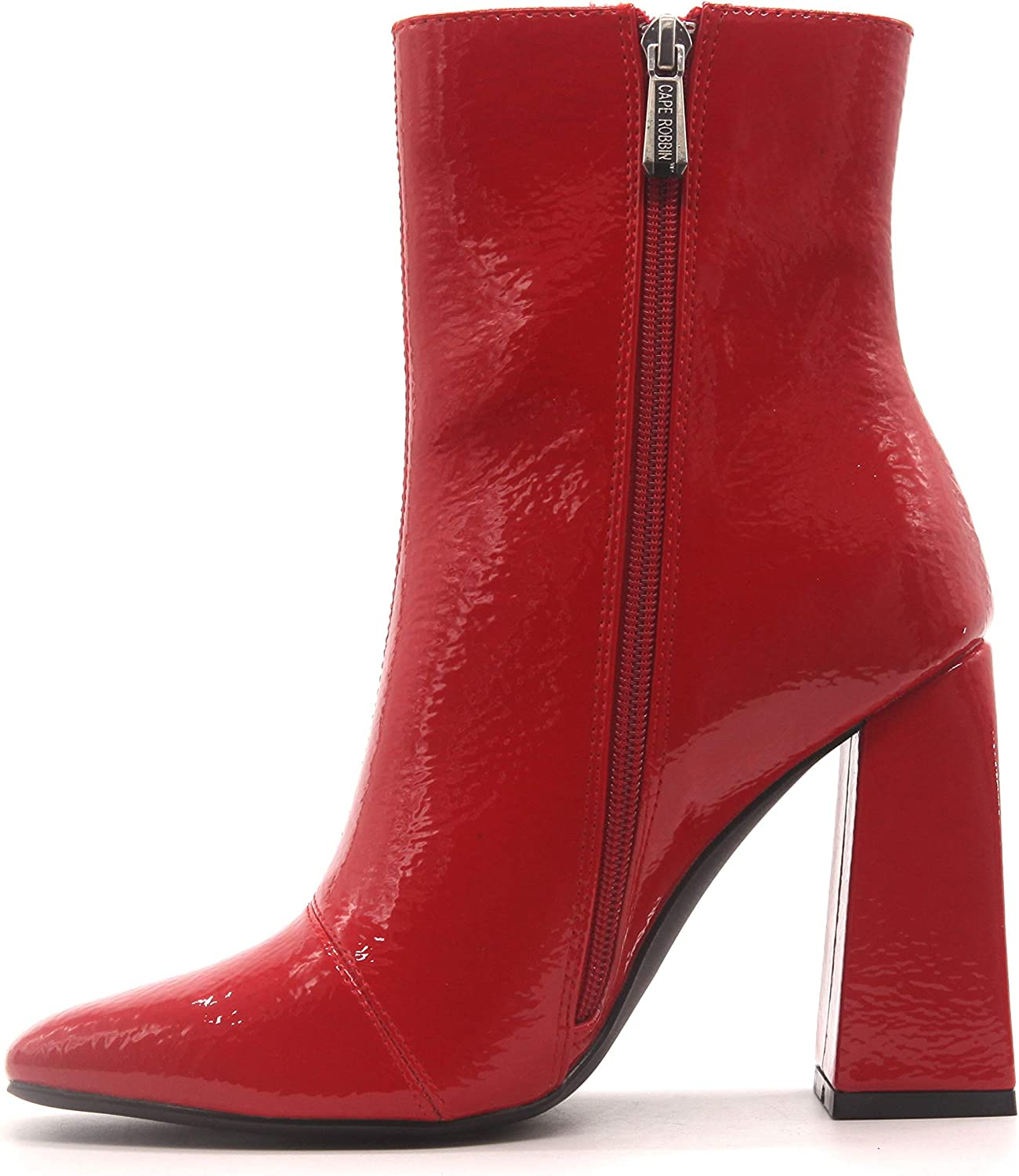 Cape Robbin Victory Ankle Boots for Hee High Ranking TOP6 Block New sales Women Chunky