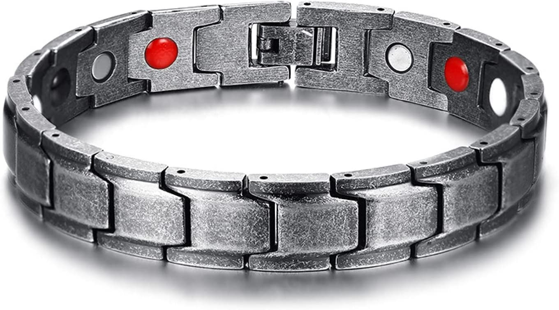 GTHT Men Bracelets shop Black Elegant Men's Steel B Charm Stainless