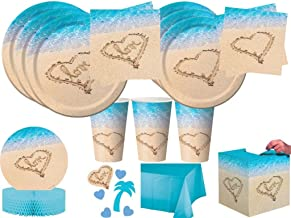 Beach Love Bridal Shower Wedding Anniversary Party Tableware Kit Plates Napkins Cups and Decorations for 24 Guests (139 Pi...