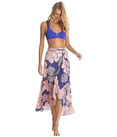 Maaji Starstruck Long Wrap Skirt Cover-Up (Blue) Women