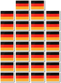 Fiomia Germany National Flag Sticker World Cup Temporary Tattoo Face Decal Body Glitter Country Flag Waterproof Removable 30Pcs