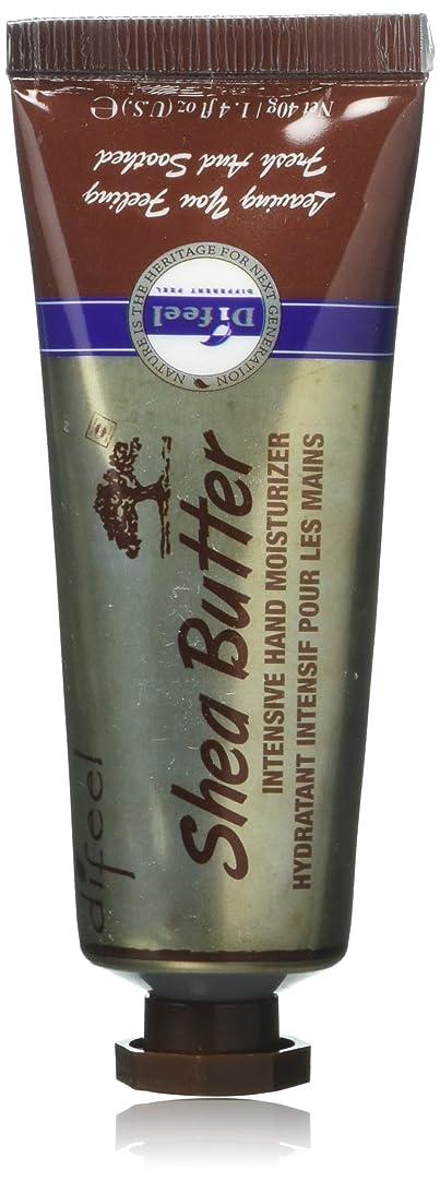 死んでいる学生湿気の多いDifeel(ディフィール) シアーバター ナチュラル ハンドクリーム 40g SHEA BUTTER 16SHE New York 【正規輸入品】