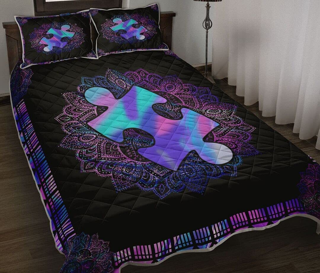 Max 82% OFF Personalized Autism Awareness Quilt Superlatite Valentine's to Day Gift My