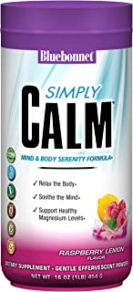 Bluebonnet Nutrition Simply Calm Powder, Raspberry Lemon Flavored, 16 Ounces