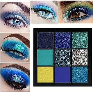 GL-Turelifes Pressed Eyeshadow Palette- Nine Eye Shades - Glitter and Matte Professional Eye Shadow Kit (#2 SAPPHIRE)