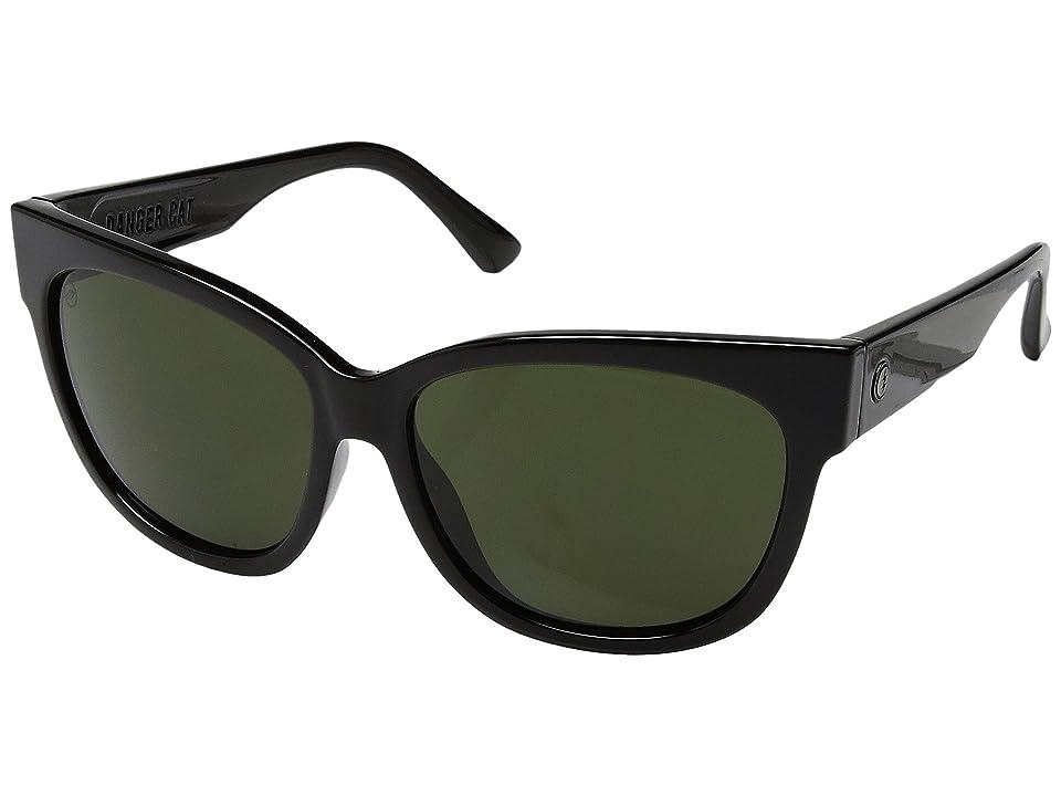 Electric Eyewear Danger Cat (Gloss Black/Ohm Grey) Fashion Sunglasses