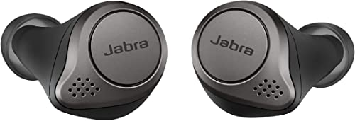 Jabra Elite 75t Earbuds – True Wireless Earbuds with Charging Case Titanium Black – Active Noise Cancelling Bluetooth Earbuds with a Comfortable Secure Fit Long Battery Life Great Sound