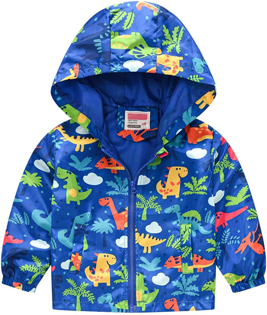 Franterd Toddler Boys Girls Virginia Factory outlet Beach Mall Jacket Lightweight Hooded Kid Trench