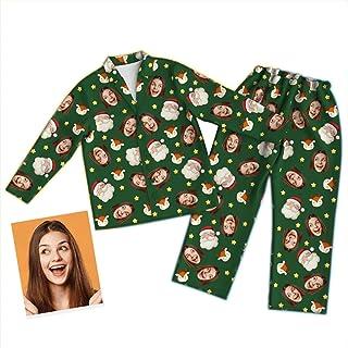Conjunto de Pijama Personalizado con Foto Personalizada, Conjunto de Ropa de Dormir para Hombres y Mujeres, Ropa de Dormir, Regalo de cumpleaños de Navidad para la Familia