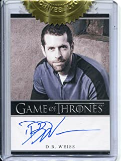 Games Of Thrones Season 2 Incentive Autograph 3-case - D.B. Weiss Autograph