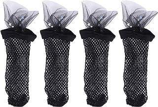 2 Pares de Calcetines Tobilleros de Rejilla para Mujer Calcetines Tobilleros de Encaje con Calcetines de Vestir de Estrellas para La Primavera Verano
