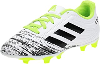 adidas Copa 20.4 FG J, Boys' Soccer Shoes, White (Ftwr White/Core Black/Signal Green)